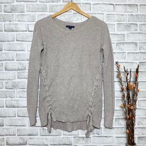American Eagle Outfitters Knit Criss Cross Sweater